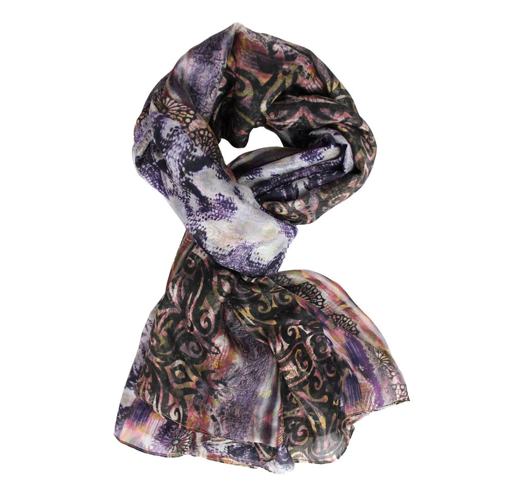 Italian silk scarf | Full size neck accessory for women - Dtex Prints
