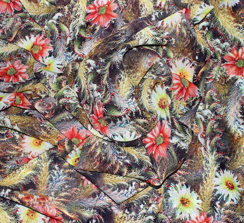 floral print fabric for ladies dress