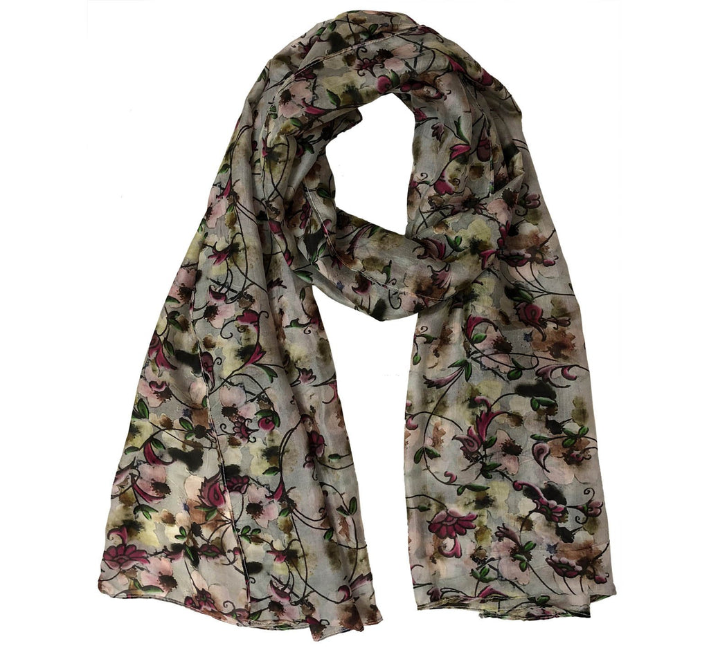 White floral scarf - Dtex Prints