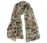 Silk chiffon Scarf | Floral design all over - Dtex Prints