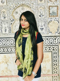 Silk scarf egypt | Black and yellow scarf - Dtex Prints