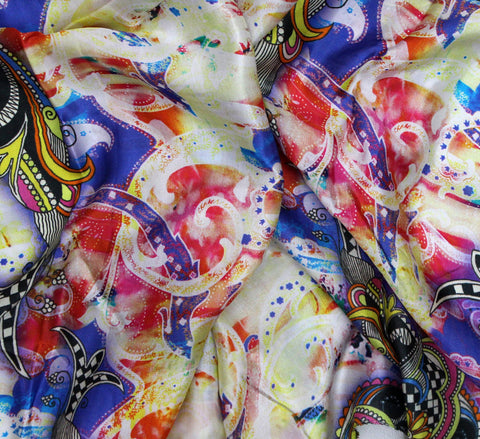 Paisley print fabric by the yard