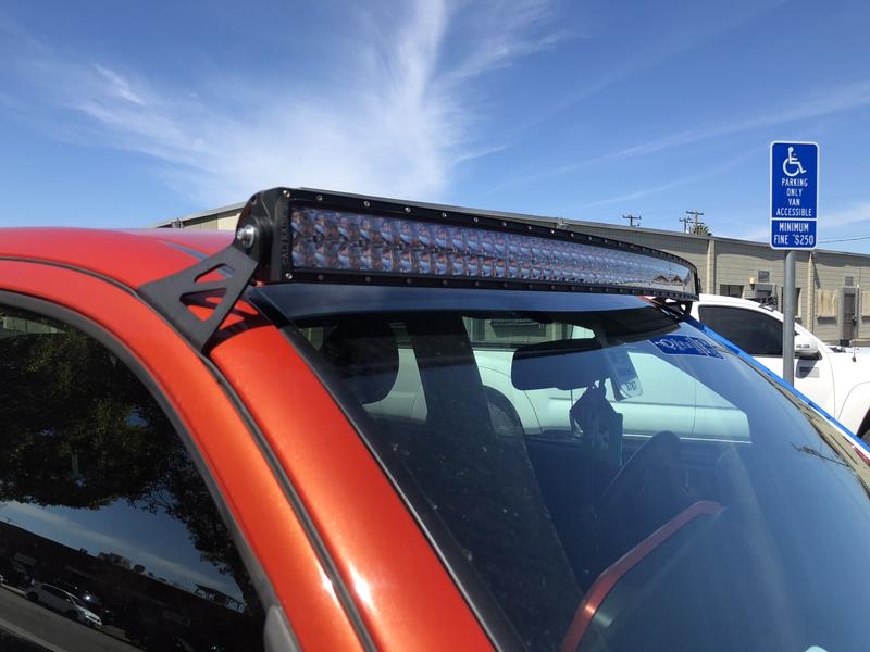 Cali Raised Curved LED Light Bar Roof Brackets (2005-2021)