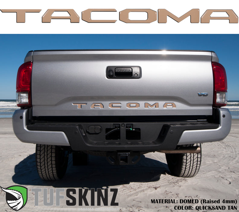For 2014-2019 Toyota Tacoma Black Aluminum Tailgate Letters Decal ABS Inserts Emblem Decal