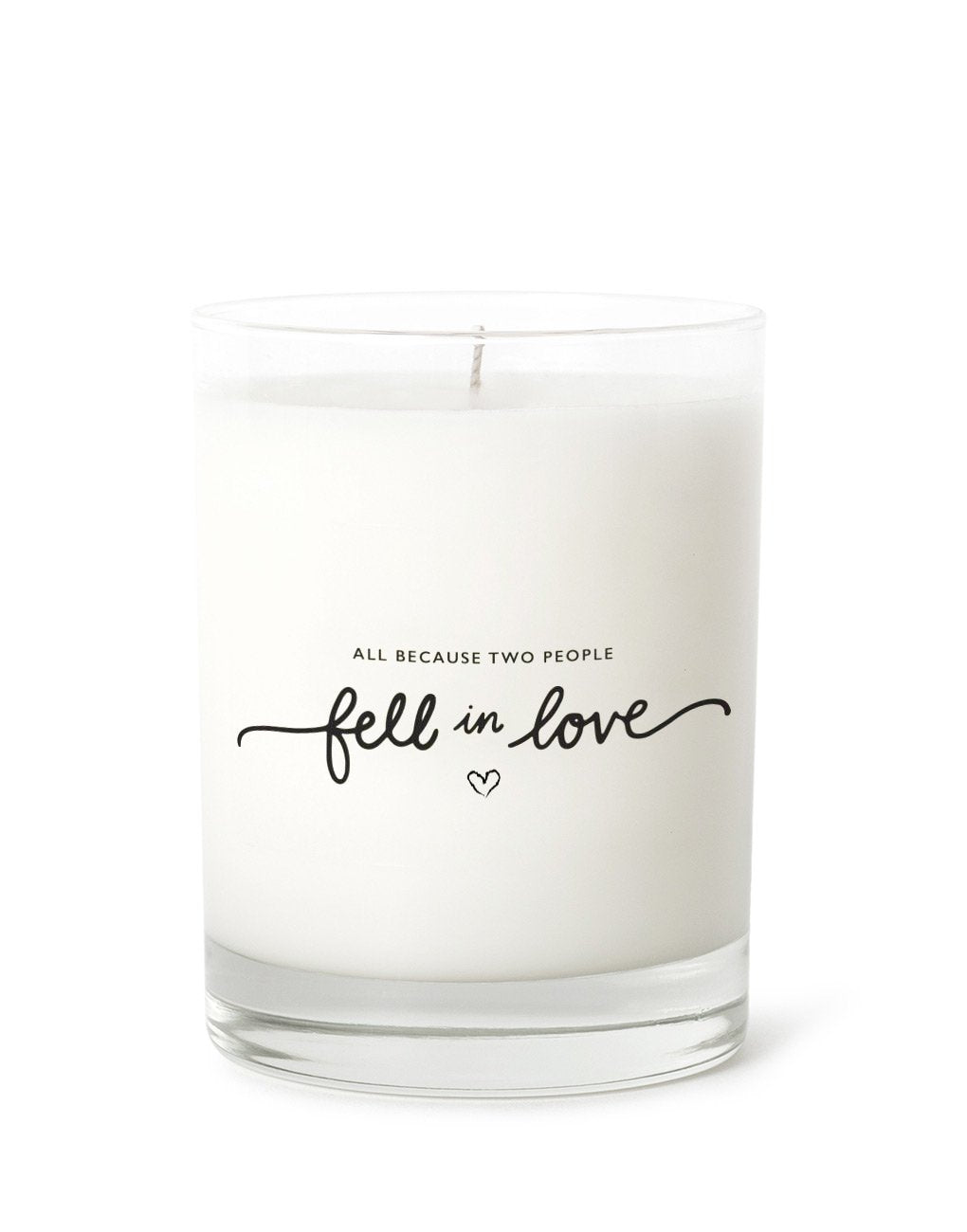 Test product white candle