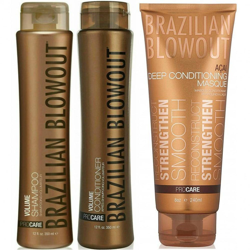 Volume Shampoo and Conditioner Duo with Mask - Lustrous Shine - Brazilian Blowout