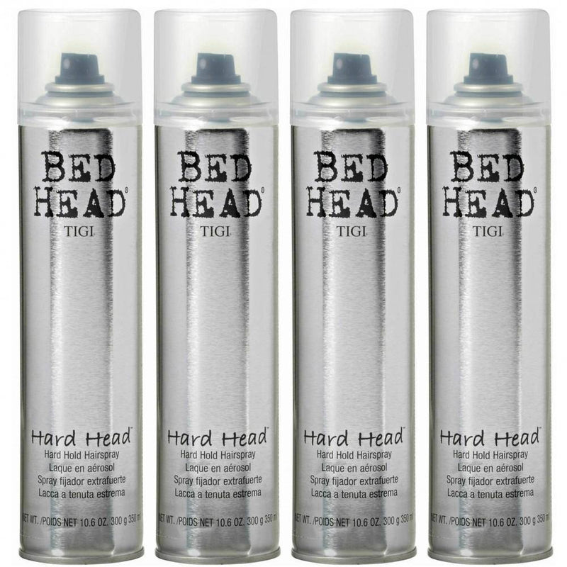 Tigi Bed Head Hard Head Hairspray 350 ml/ 10.6 oz. 4 Pack - Lustrous Shine - TIGI