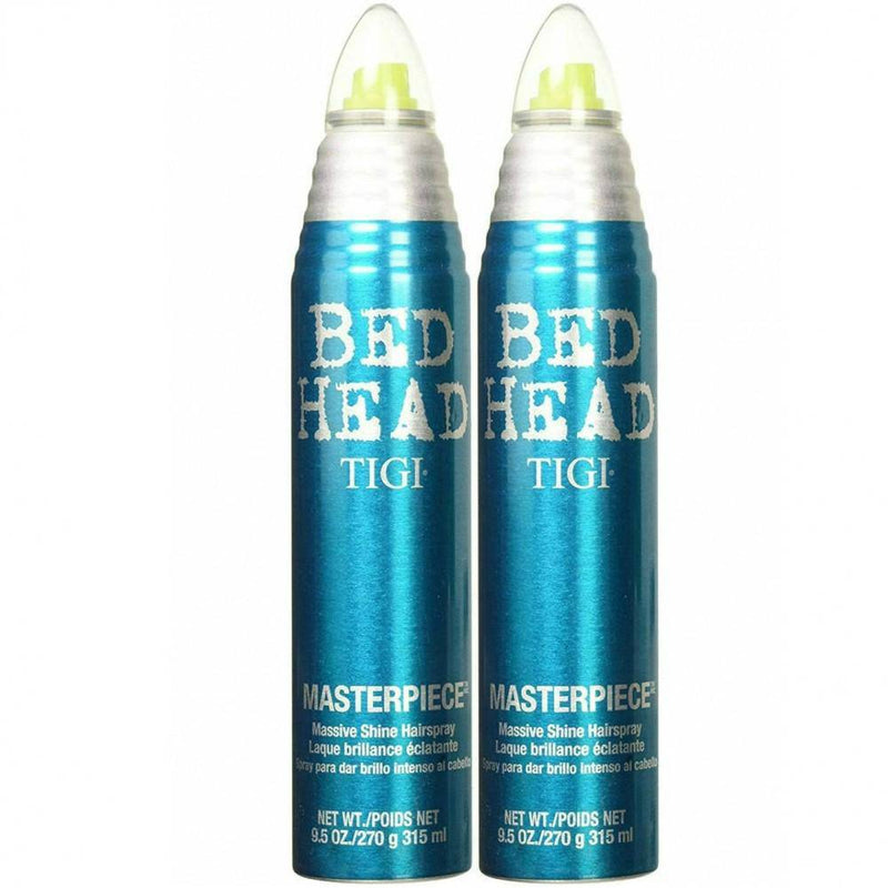 Tigi Bed Head Masterpiece Massive Shine Hairspray 315 ml/ 9.5 oz. 2 Pack - Lustrous Shine - TIGI