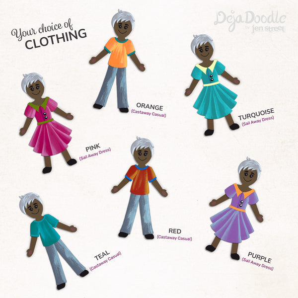 Silhouette Style B - Medium Skin Tone - Happily Ever After Grey Hair (Choose Hairstyle & Outfit)