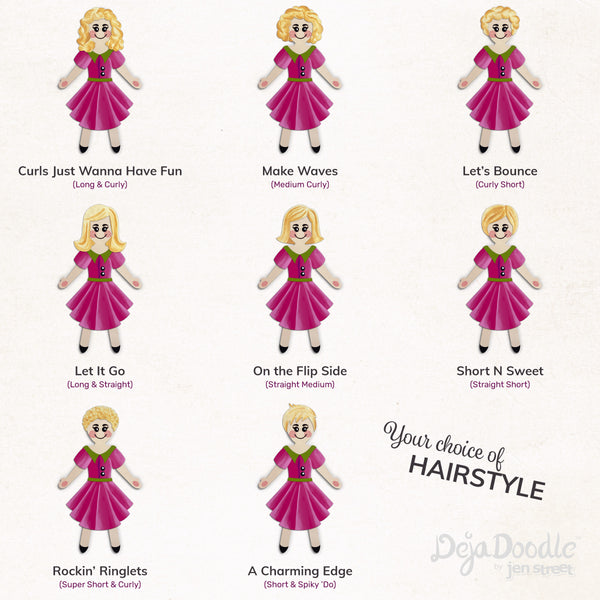 Silhouette Style A - Light Skin Tone - Tangled Up in Blonde Hair (Choose Hairstyle & Outfit)