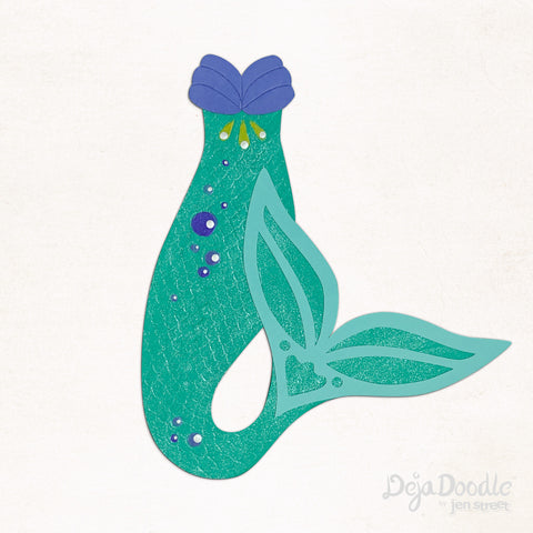 Flippin' Your Fins Mermaid Tail in Green