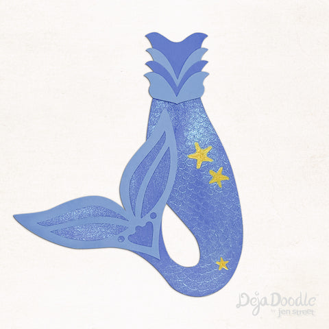 Flippin' Your Fins Mermaid Tail in Periwinkle