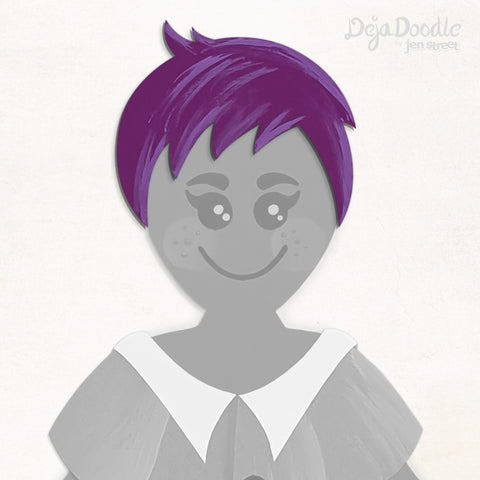 A Charming Edge Hairstyle - Deja Purple