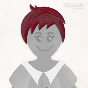 A Charming Edge Hairstyle - Under the Sea Red