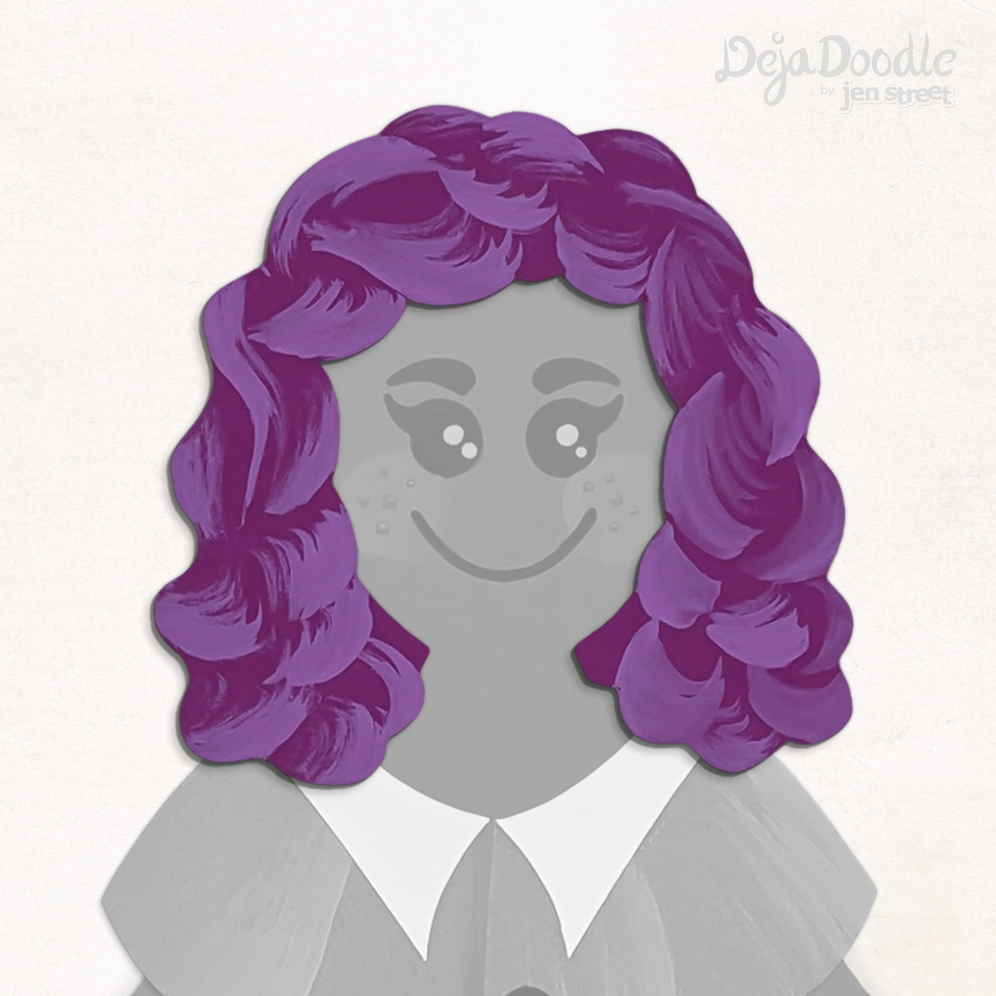 Curls Just Wanna Have Fun Hairstyle - Deja Purple