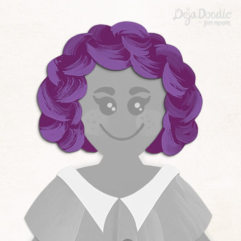 Make Waves Hairstyle - Deja Purple