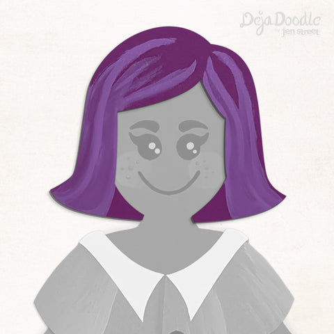 On the Flip Side Hairstyle - Deja Purple