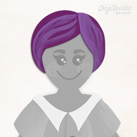 Short N Sweet Hairstyle - Deja Purple