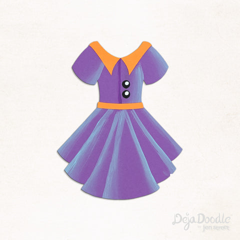Sail Away Dress in Purple