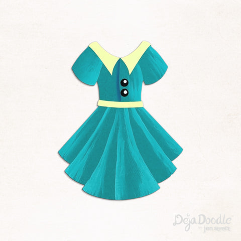 Sail Away Dress in Turquoise