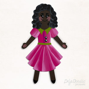 Silhouette Style A - Dark Skin Tone - Dark Side Black Hair (Choose Hairstyle & Outfit)