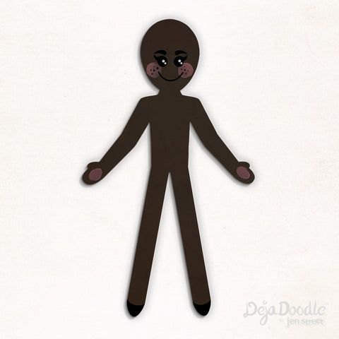 Silhouette Style A - Dark Skin Tone With Freckles
