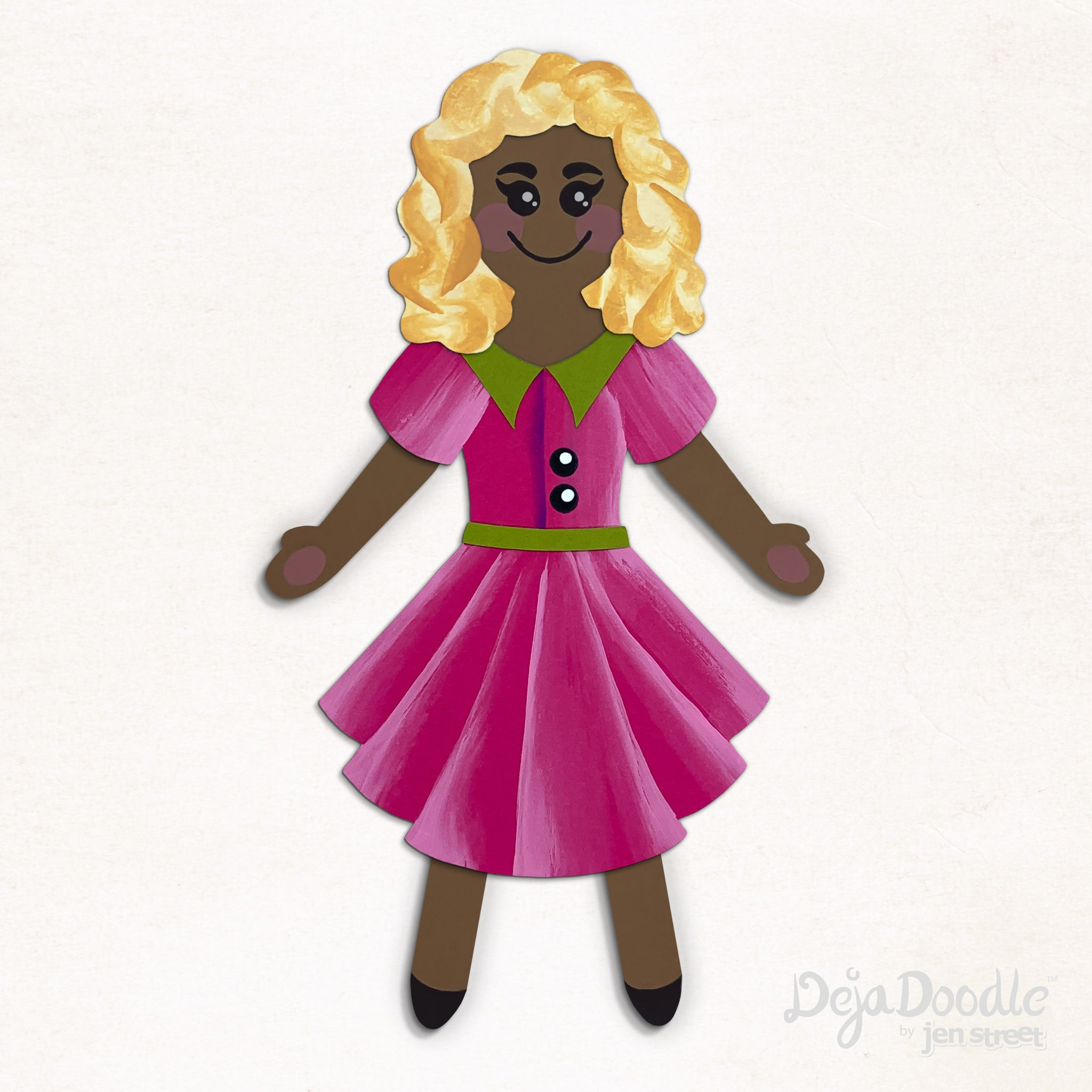 Silhouette Style A - Medium Skin Tone - Tangled Up in Blonde Hair (Choose Hairstyle & Outfit)