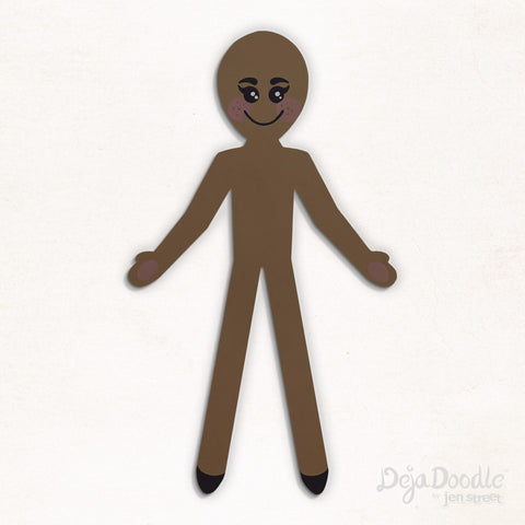 Silhouette Style A - Medium Skin Tone With Freckles