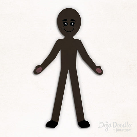 Silhouette Style B - Dark Skin Tone With Freckles