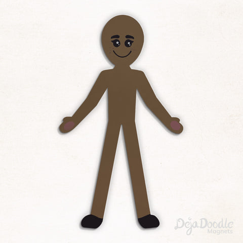 Silhouette Style B - Medium Skin Tone With Freckles
