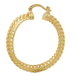 Gold Braided Hoop Earrings Bella Joias Jewelry Miami