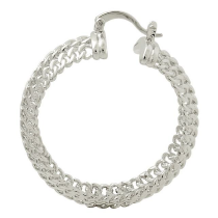 Silver Braided Hoop Earrings Bella Joias Jewelry Miami