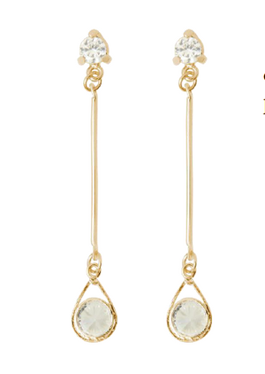 Load image into Gallery viewer, Day & Night Drop Earrings