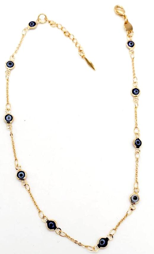Delicate Eye Anklet 18K Gold Layered