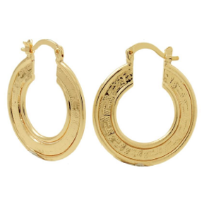 Load image into Gallery viewer, Egyptian Hoop Earrings Bella Joias Jewelry Miami