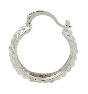 Silver Fish Hoop Earrings Bella Joias Jewelry Miami