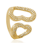 Heart Encounter 18K Gold Layered Ring