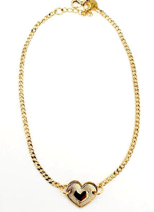 Heart Anklet 18K Gold Layered