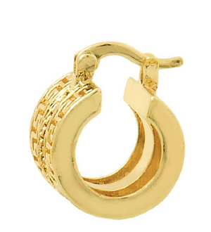 Italian Wonders Gold Hoop Earring Bella Joias Jewelry Miami