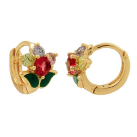 Kids Flower Hoop Earrings Bella Joias Jewelry Miami