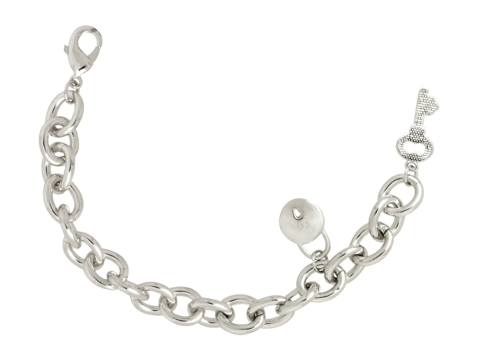 Lock My Love Bracelet in Silver and 18K Gold Plating