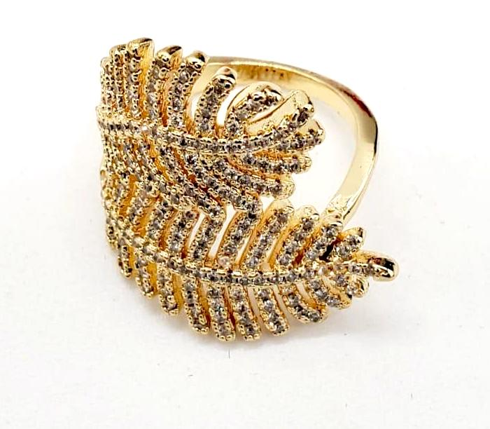 Leaf Ring 18K Gold Plated