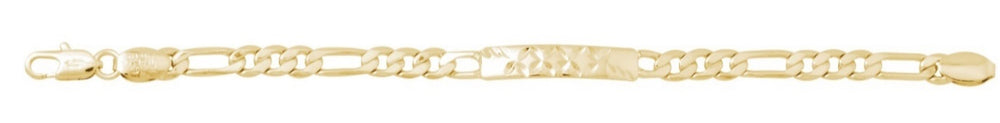 Pattern Kids Italian Link Bracelet 18K GOLD filled