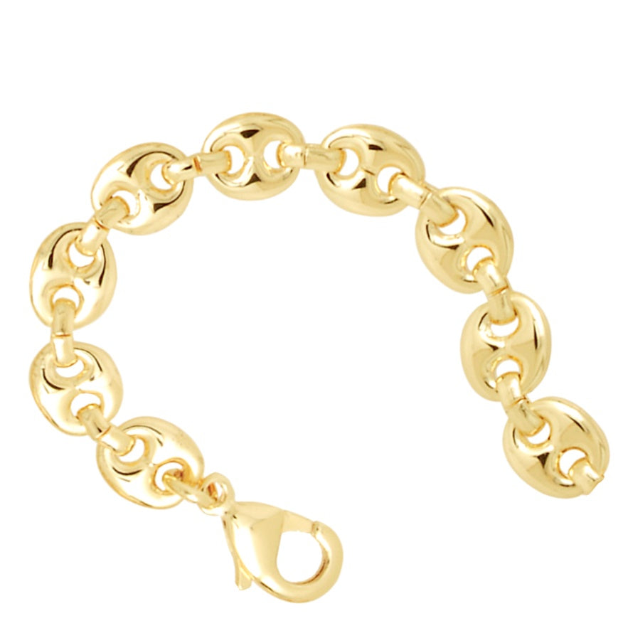 Puffy Gucci Style Bracelet 18K Gold Plated