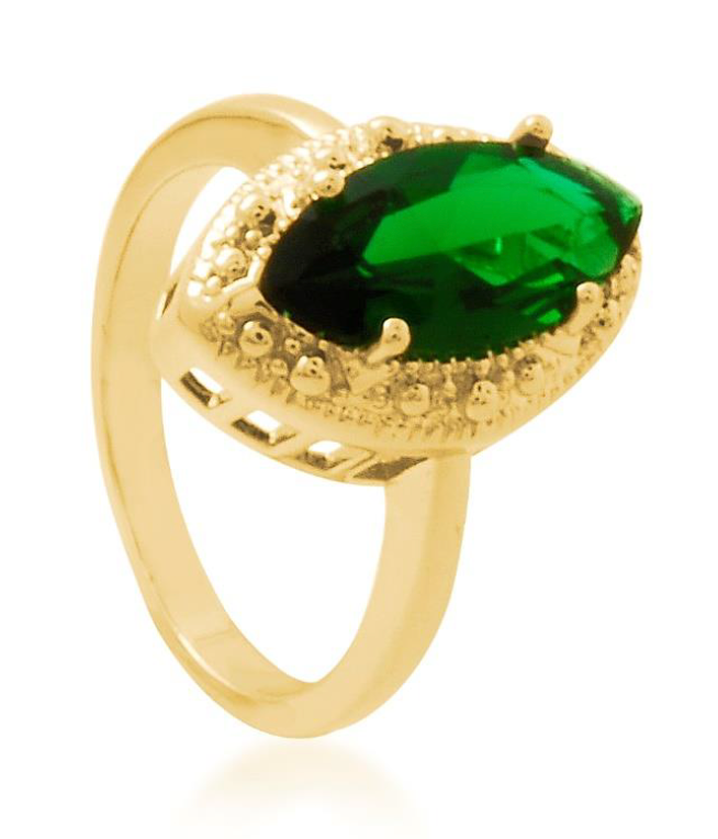 Royal Emerald Ring Bella Joias Jewelry Miami