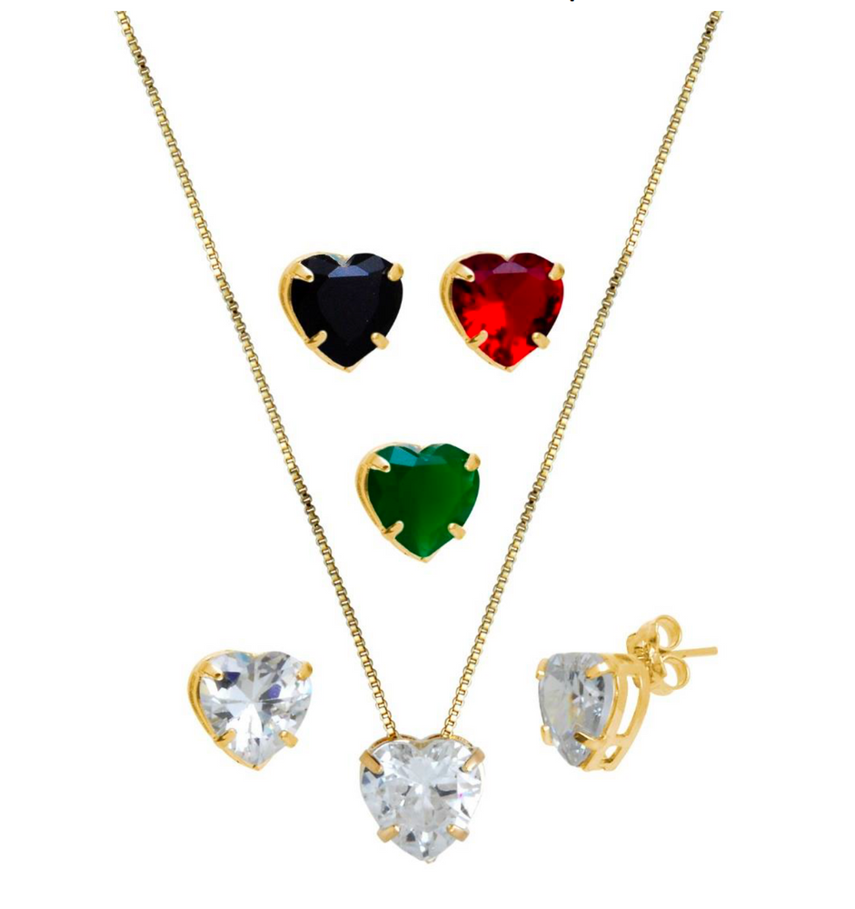 Sweet Heart Necklace Earring Set