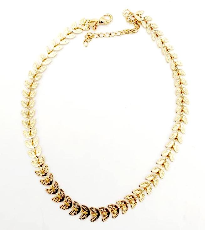 Fish Tail Anklet 18K Gold Layered
