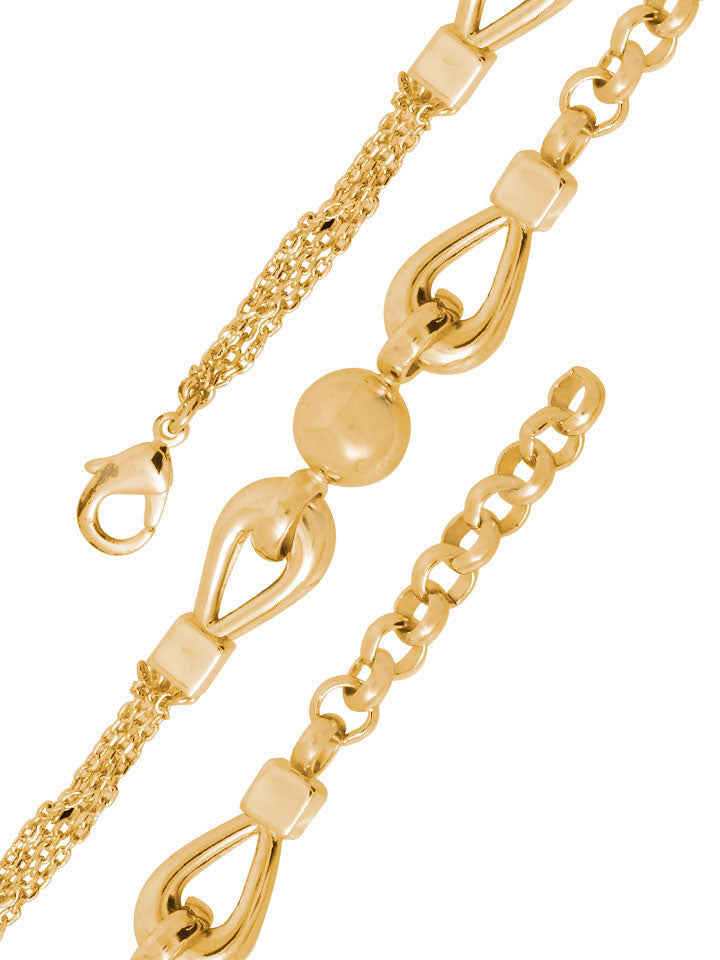 Eclectic 18K Gold Layered Bracelet