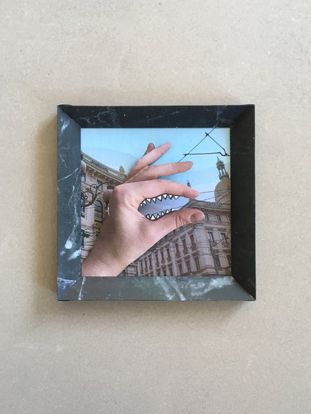 Neil Beloufa, The Hand of Vengeance (Milan Edition), Self Assembly Paper Artwork, 2020