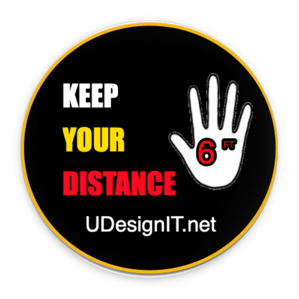Keep your Distance Pin-Back Buttons 2.25""